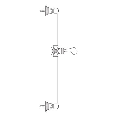 Impero shower bar for the exclusive classic bathroom
