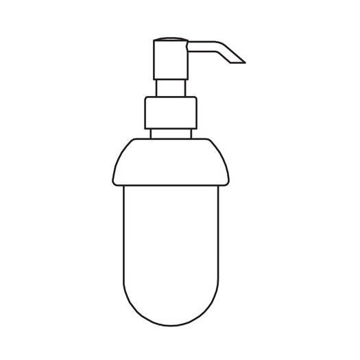 Liquid soap dispenser in frosted glass