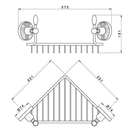 Corner-mounting shower basket