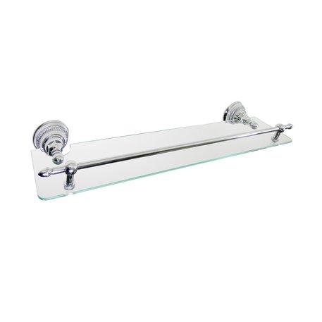 Impero glass shelf for the classic bathroomÉtagère en verre Impero pour la salle de bains classique