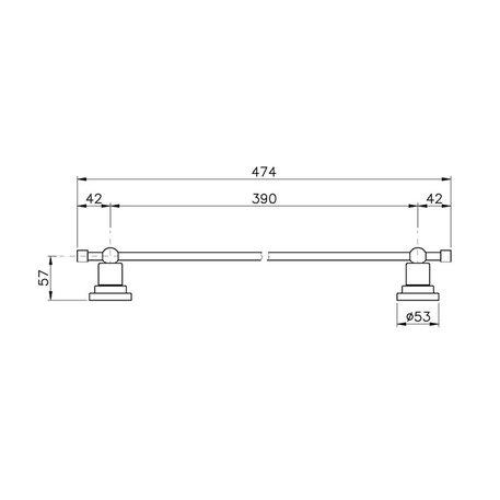 Accessories for the bathroom - towel rail 47,4 cm