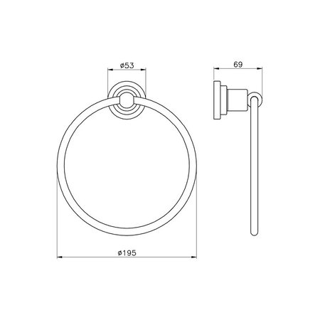 Accessories for the bathroom - towel ring