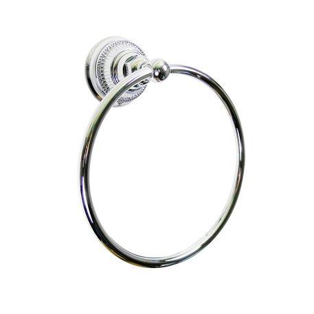 Elegant towel ring for toilet or bathroom