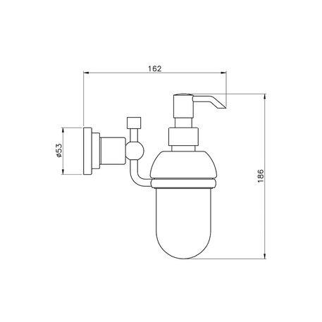 Accessories for the bathroom - liquid soap dispenser