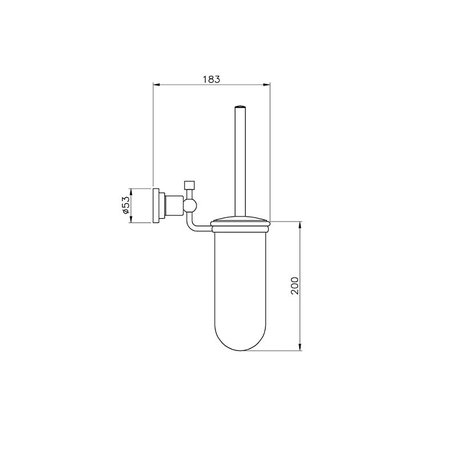 Accessories for the bathroom - wall-mounted toilet brush holder