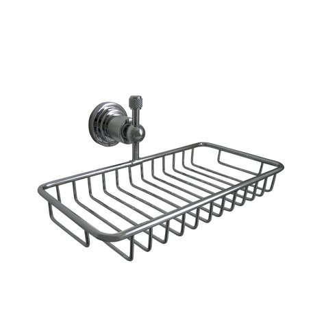 Soap basket for the bath or shower in mechanical style