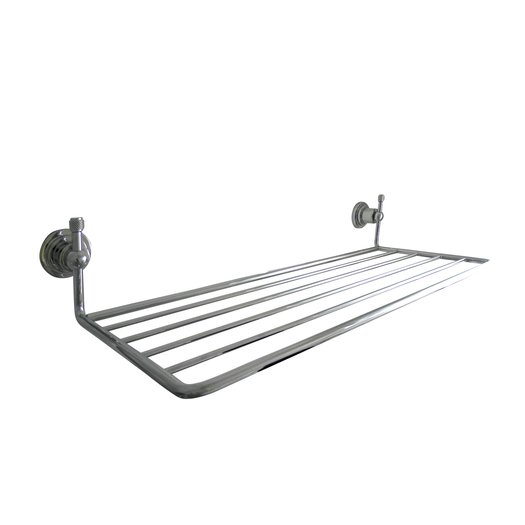 Retro towel rack with an industrial touch