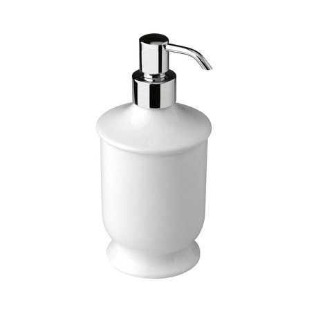 Freestanding porcelain soap dispenser for the cottage bathroom