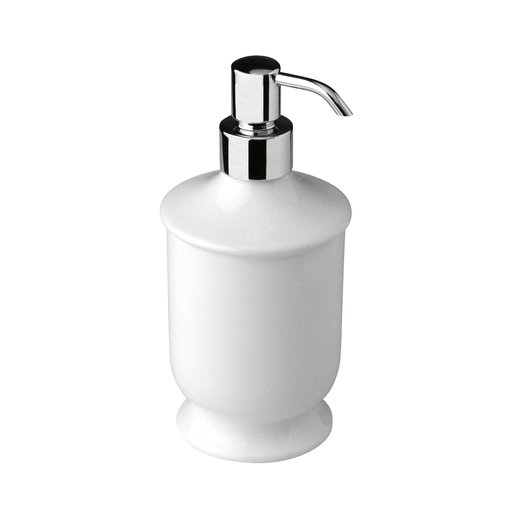 Freestanding porcelain soap dispenser for the cottage bathroom