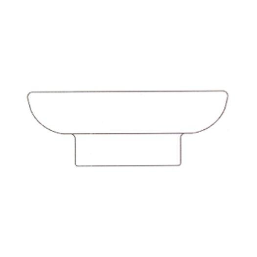 Porcelain soap holder for the free standing holder 951.1494.xx
