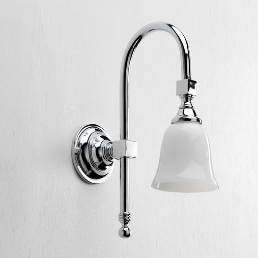 Classical wall sconce for the retro bathroom