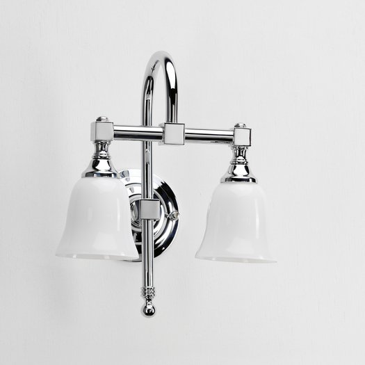 Retro style double wall lamp