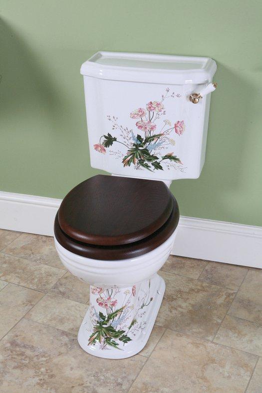 Victorian monobloc toilet in the victorian garden finish