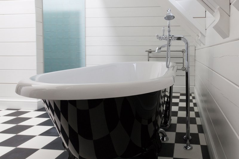 Badkraan op staande koppelingen voor klassiek bad