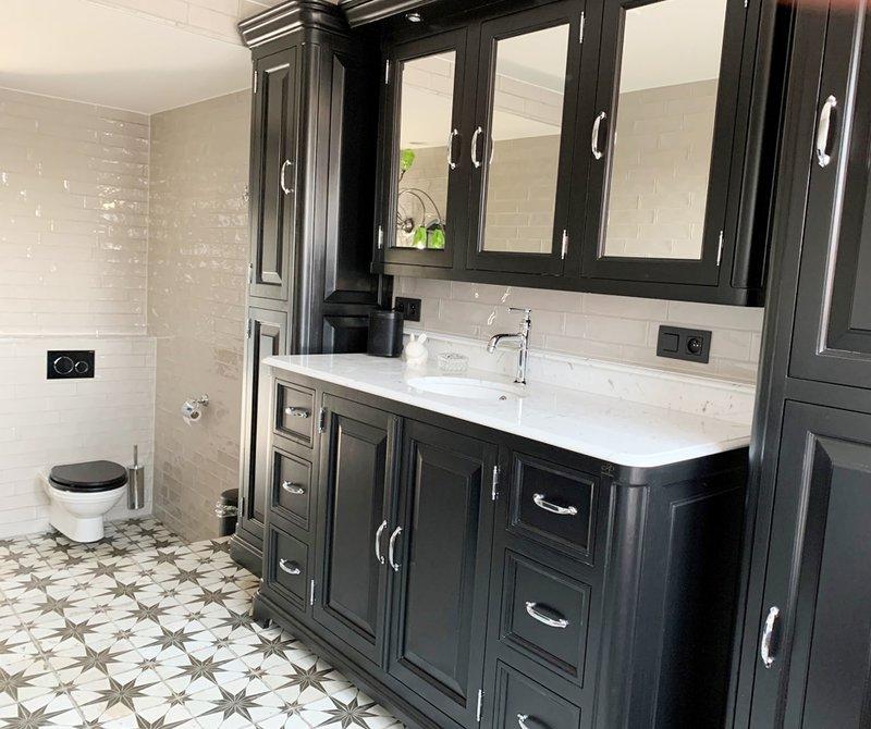 Regent 155 badkamer meubel met spiegelkast