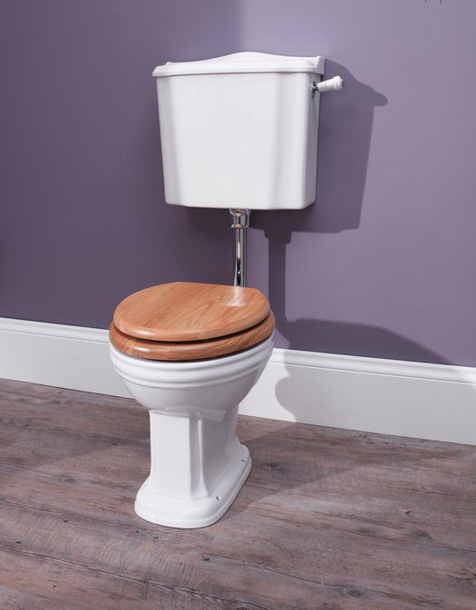 Balasani toilet with low level cistern for the country style bathroom