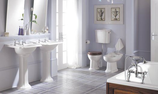 Balasani ceramic collection for the cottage or classic style bathroom