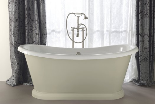 Freestanding bathtub Bateau with outside in color for the cottage bathroom