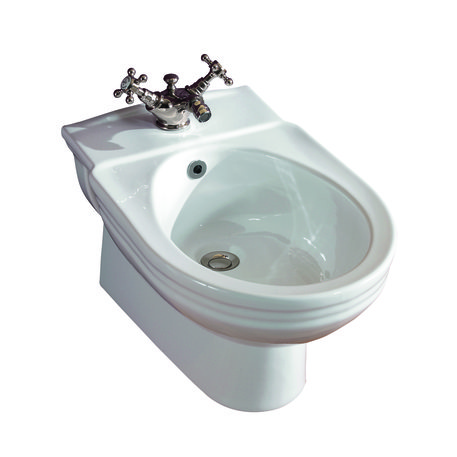 Victorian wall mounted bidet in classic style