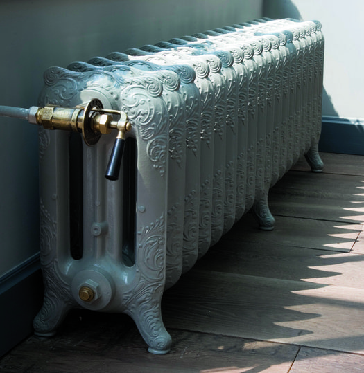Retro style cast iron radiator with 3 columns