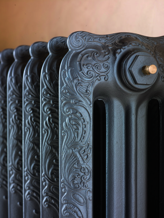 Detail Brannon 3 cast iron radiator in retro style