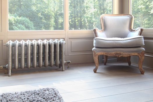 Example of a classic cast iron radiator