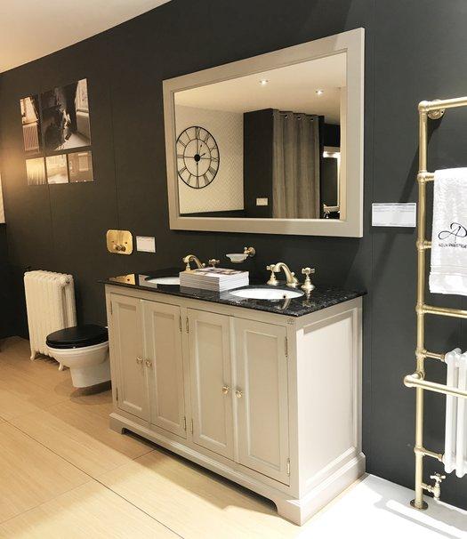 Bristol rural bathroom furniture with 2 washbasins