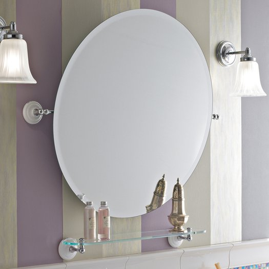 Round mirror for the retro bathroom