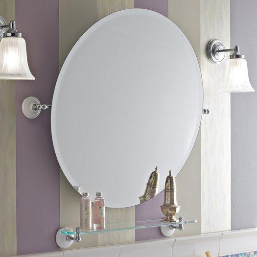 Ronde spiegel voor de retro badkamer