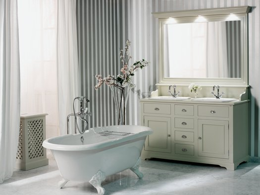 Carlton vintage bathroom furniture with 2 washbasins