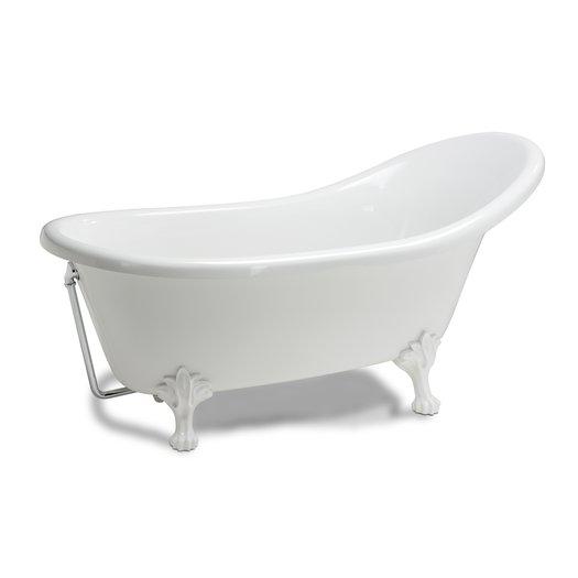 Baignoire libre Clarence sur pieds pour la salle de bain rétro