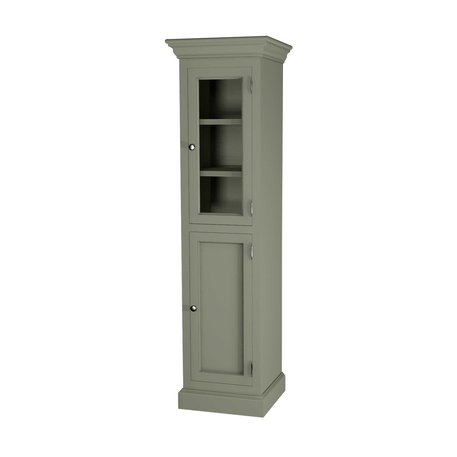 Classic tall cabinet with glass door 600.18042R