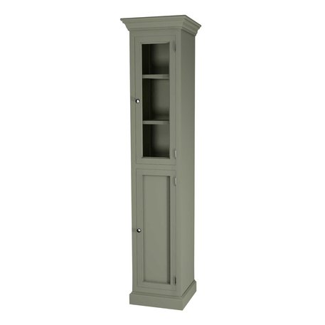 Classic tall cabinet with glass door 600.18047R in retro style