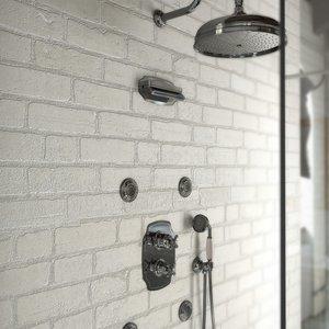 Colonial retro built-in shower arrangements 04