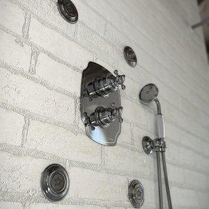 Colonial retro built-in shower arrangements 05