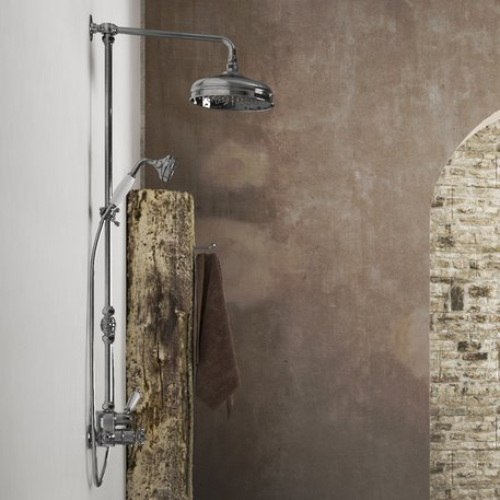 Colonial shower systems for the retro or English style bathroom.