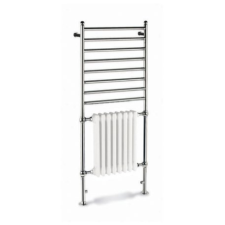 Combination 1 towel rail with radiator for the retro bathroom