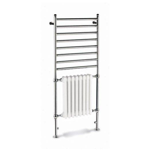 Combination 1 towel rail with radiator for the retro bathroom