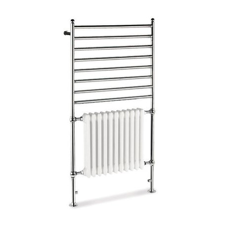 Combination 2 towel rail with radiator for the retro bathroom