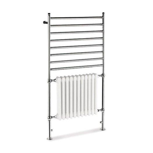 Combination 2 towel rail with radiator for the retro bathroom