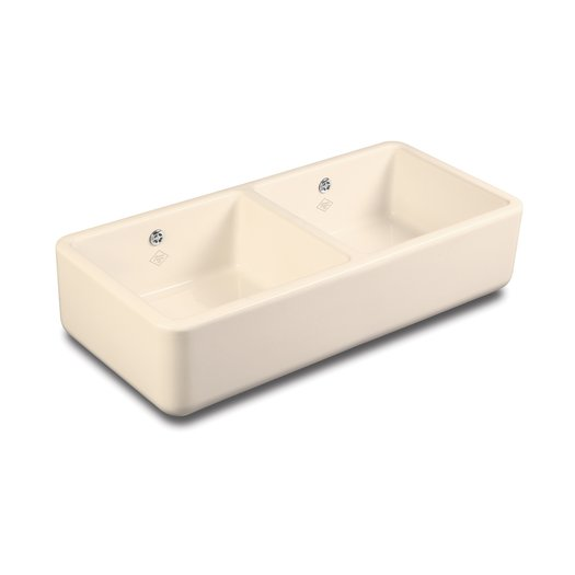 Double Bowl 1000 kitchen sink in biscuit color