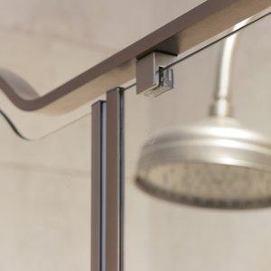 Detail Gold shower enclosure in brushed steel 02