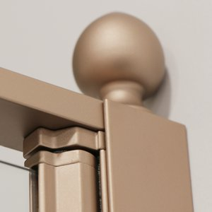 Detail Gold shower enclosure in satin copper 02