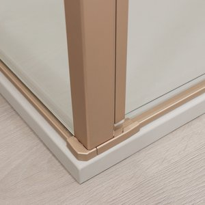 Detail of Gold shower enclosure in satin copper 01