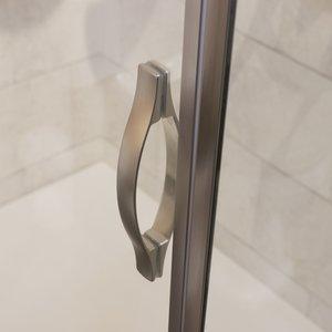 Detail Gold shower enclosure in brushed steel 01