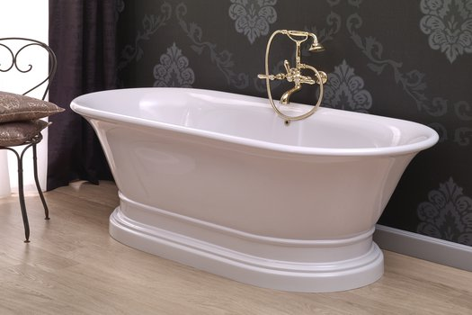 Elégance bath, freestanding cottage bathtub on a pedestral