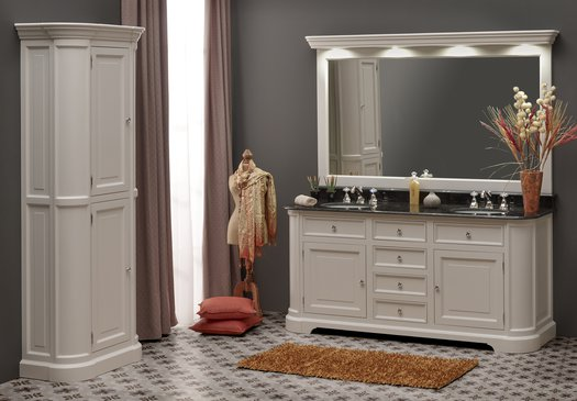 Elysée 185 country bathroom furniture with a column furniture