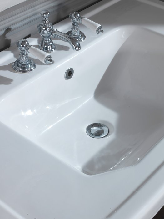 Close-up of the Empire console washbasin