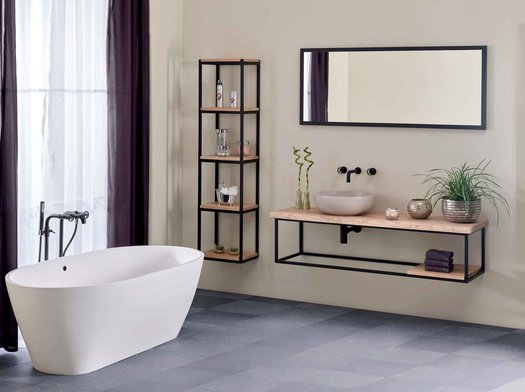 Forest oak bathroom furniture