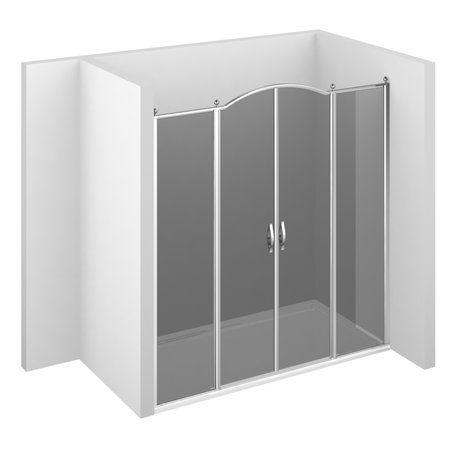 GL4 Gold shower setup with 2 doors and 2 fixed panels